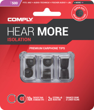 Comply Almohadillas de Espuma - Isolation T500 (S/M) - 03 Pares