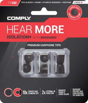 Comply Almohadillas de Espuma - Isolation+ Tx100 (S/M) - 03 Pares