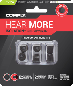 Comply Almohadillas de Espuma - Isolation+ Tx200 (S/M) - 03 Pares