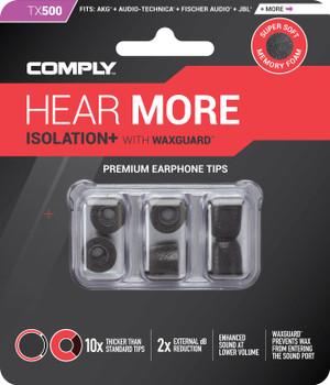 Comply Almohadillas de Espuma - Isolation+ Tx500 (S/M) - 03 Pares