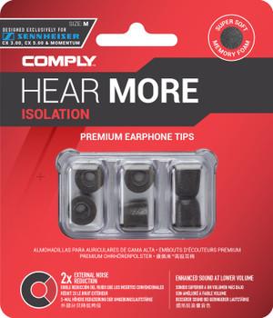 Comply Almohadillas de Espuma - Isolation Tx167 Sennheiser (S/M) - 03 Pares