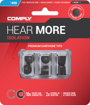 Comply Almohadillas de Espuma - Isolation T400 (S/M) - 03 Pares