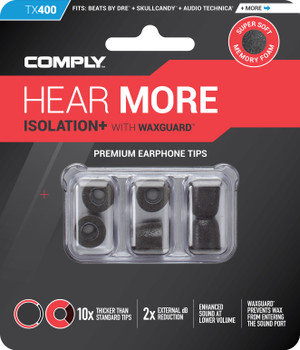 Comply Almohadillas de Espuma - Isolation+ Tx400 (S/M) - 03 Pares
