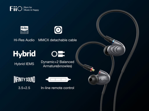 Fiio F9 Pro Audífonos In-Ear HiFi Handsfree 3 Drivers