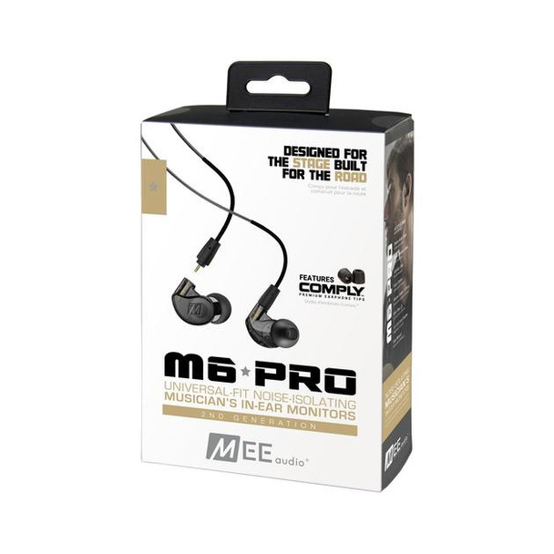Mee Audio M6 Pro 2da Gen - Audífonos In-Ear - Cable Desmontable Handsfree (Negro)