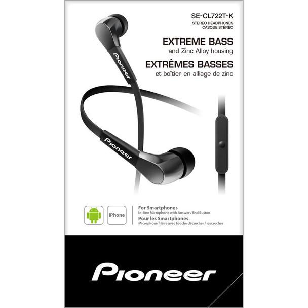 Pioneer SE-CL722T - Audifonos con Handsfree (Negro/Rojo)
