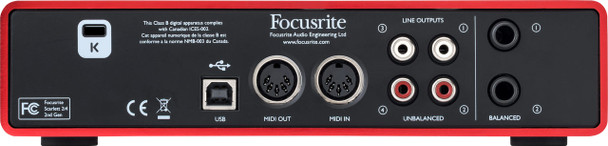 Focusrite Scarlett 2i4 (2nd Gen) Interfaz de Audio