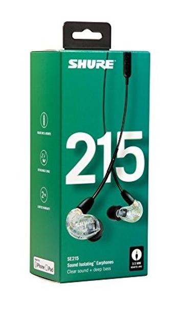Shure SE215 Transparente - Audífonos In-Ear con Handsfree Android/iOS