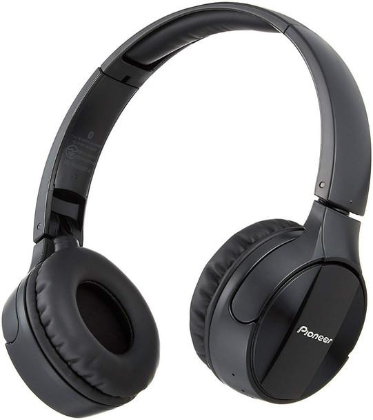 Pioneer SE-MJ553BT - Audífonos Over-Ear Bluetooth Hi-Res - Negro/Blanco