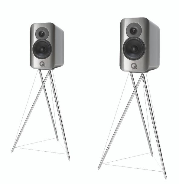Q-Acoustics Q Concept 300 Parlantes Negro-Plata (Par) con Parantes