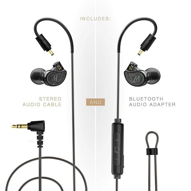 Mee Audio M6 Pro 2da Gen + Adaptador Bluetooth Audífonos In-Ear