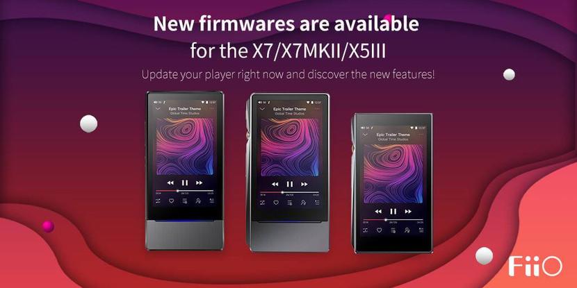 Gran Actualización de Firmware para  X7 / X7MKII / X5III - Notición!