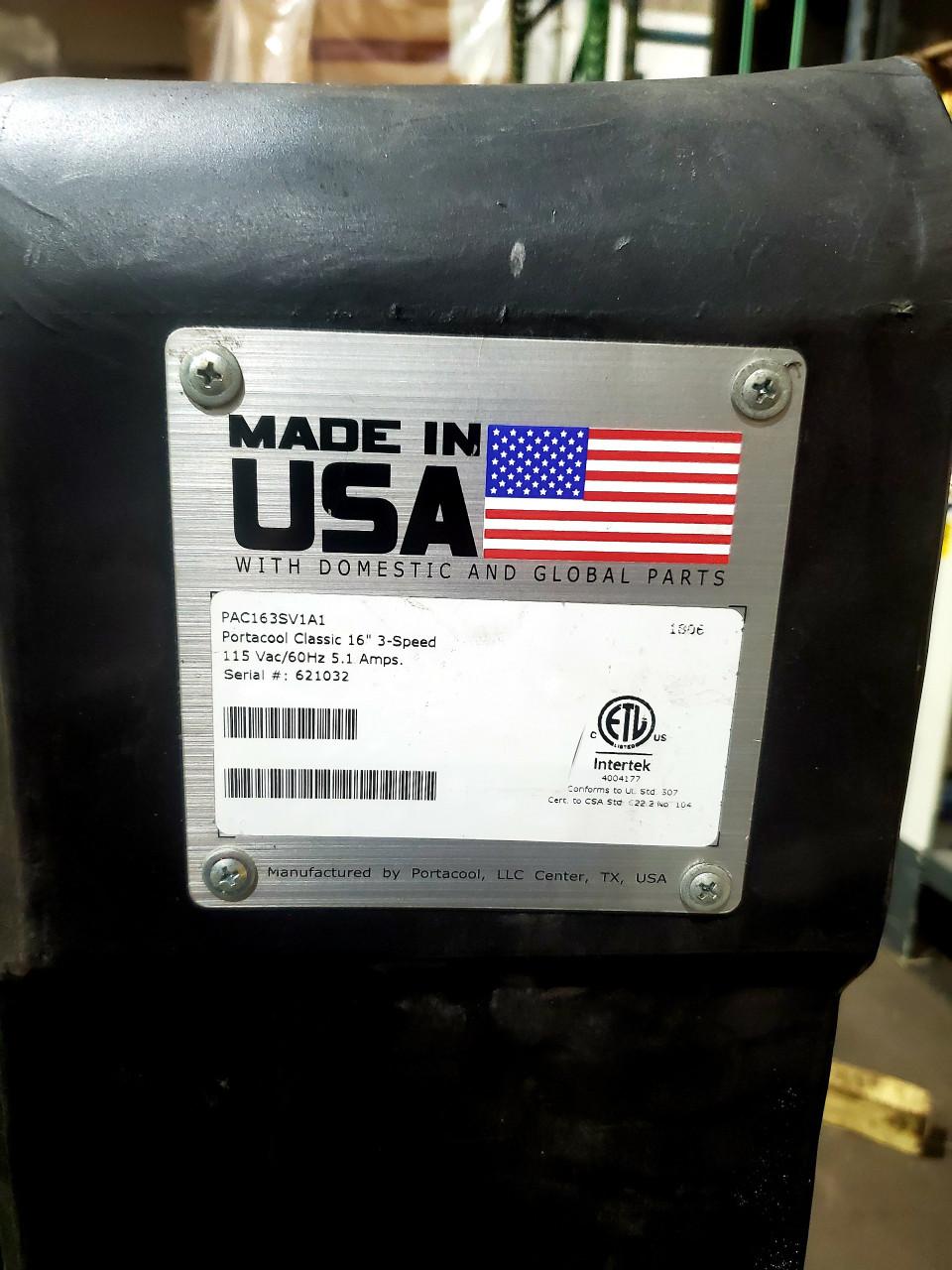"Portacool Classic 16"" 3-Speed Portable Evaporative Cooler, 3900CFM, Model#: PAC163SV1A1"