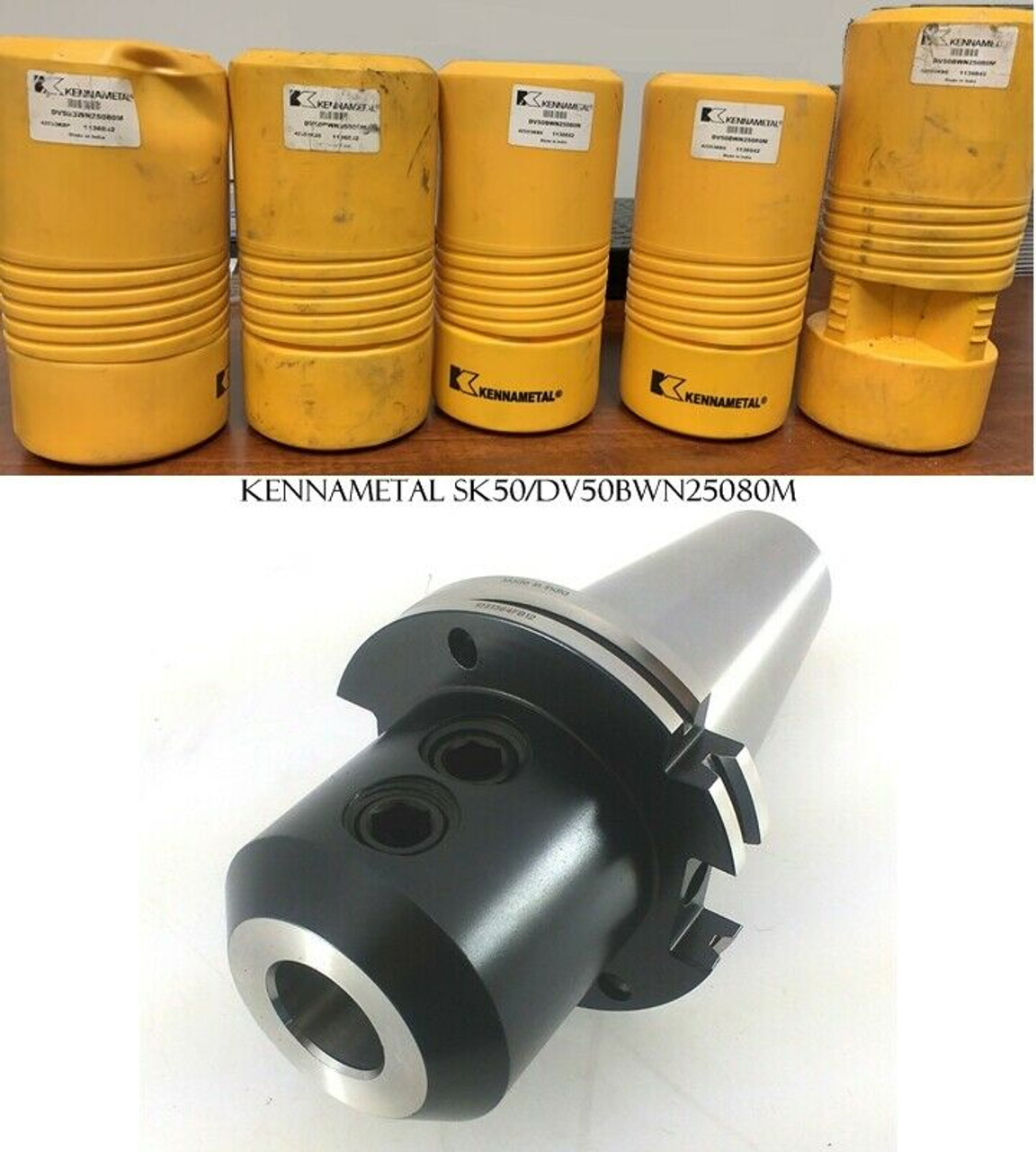 KENNAMETAL SK50/DV50BWN25080M 25MM WHISTLE NOTCH ENDMILL HOLDER