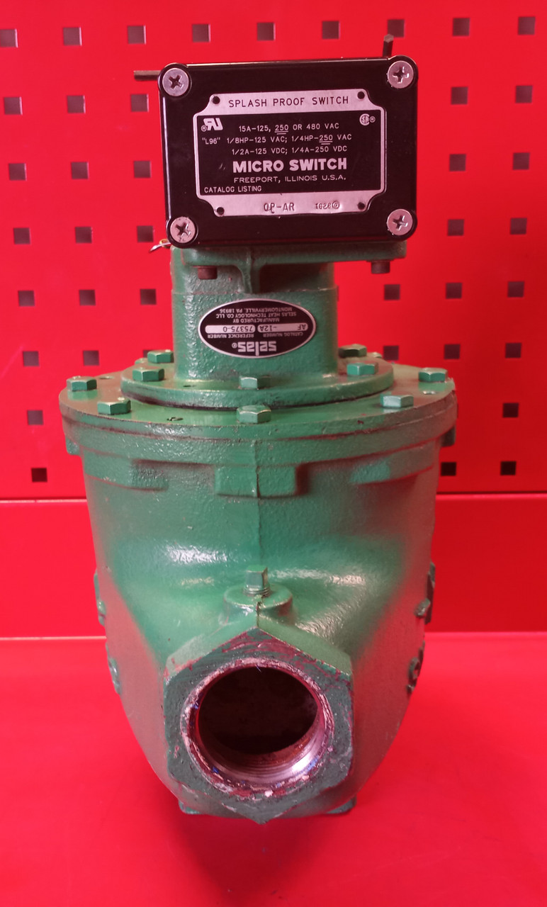 """Selas 75375-0 (AF-12A) 1-1/2"""" Firecheck Valve With Honeywell OP-AR Micro Switch"""