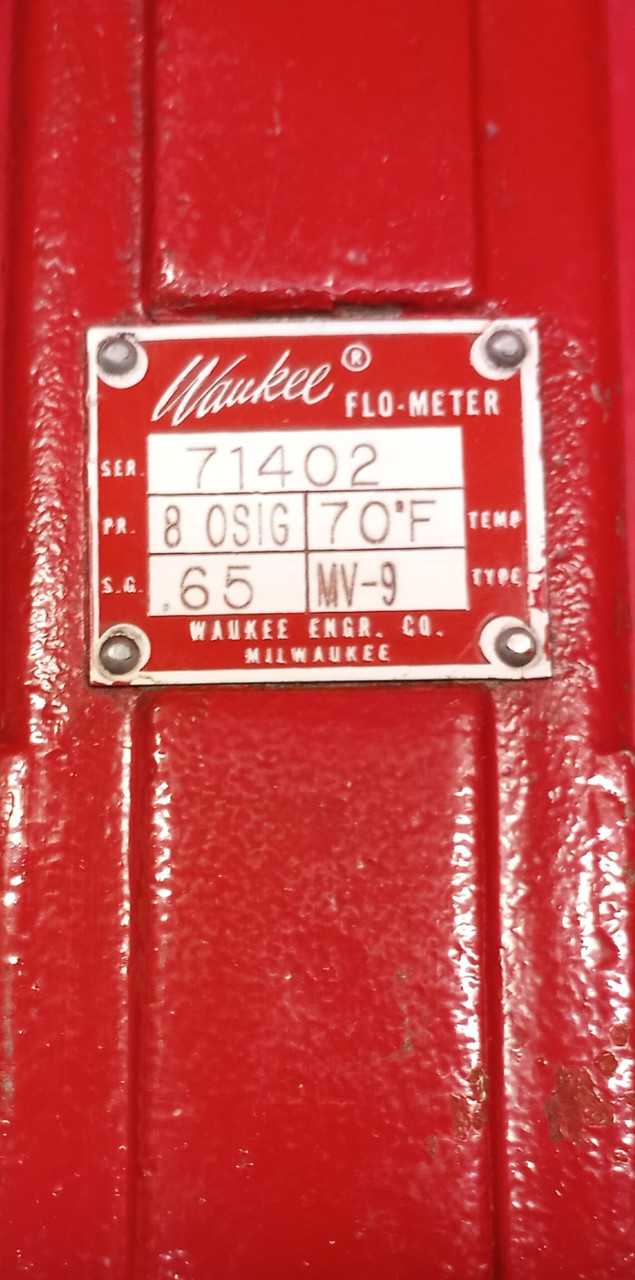 Waukee MV-9 Natural Gas Flo-Meter 0-350CFH