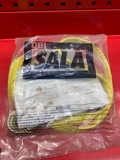 "3M DBI-SALA 1231106 Web Positioning Lanyard, 6', 3/4"" Snap Hook, Yellow"