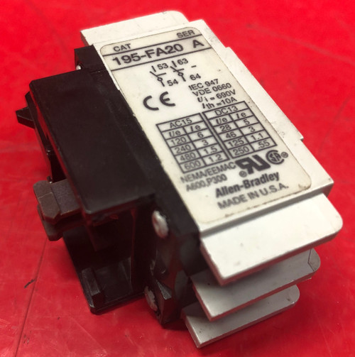 Allen Bradley 195-FA20 Auxiliary Contact