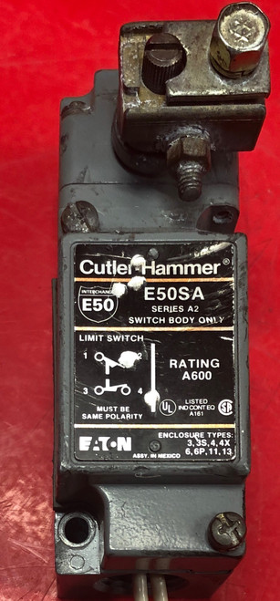 Eaton E50SA Heavy Duty Limit Switches w/ E50DR1 Operating Head