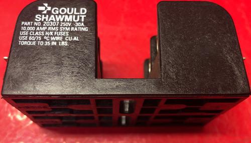 Gould Shawmut 20307 Fuse Block, Industrial, 30A, 2 Pole