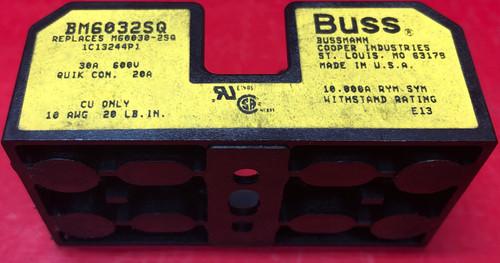 Cooper Bussman BM6032SQ Fuse Block, Midget, 30A, 2 Pole