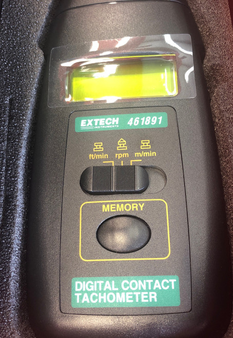 Extech Instruments Contact Tachometer 461891 W/case