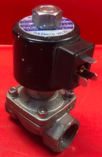 """ESV ZW-20JK 3/4"""" Stainless Steel Solenoid N/C valve, 110 Vac"""