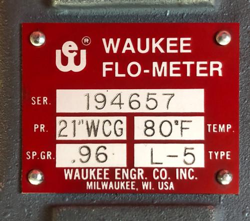 Waukee L5 Flo-Meter - Nitrogen 0-1500 CFH