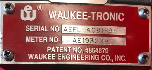 Waukee LPX-6 Flo-Meter w/ Waukee-Tronic AE193299 - ENDO