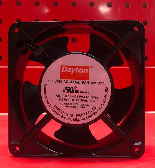 DAYTON 4WT47 Standard Square Axial Fan, Square, 115VAC, 1 Phase, 105 cfm