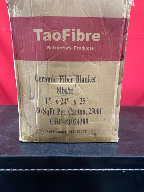 "TaoFibre Ceramic Fiber Spun Blanket 8 lb./cu.ft.  1""thick X 24""wide X 25'long (50 sq.ft/roll, 1 roll/box)"