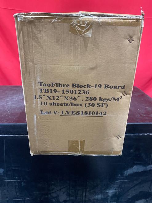 """TaoFibre Block-19, 1.5""""X12""""X36"""", 10 sheets/box (30 sq.ft.) Temp. Rate 1900 Deg F"""