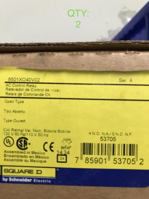 Square D Relay 10A Contactor - 8501XO40V02