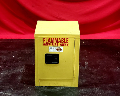 "SECURALL 4 GAL FLAMMABLE STORAGE CABINET -17"" X 17"" X 22"" HIGH"