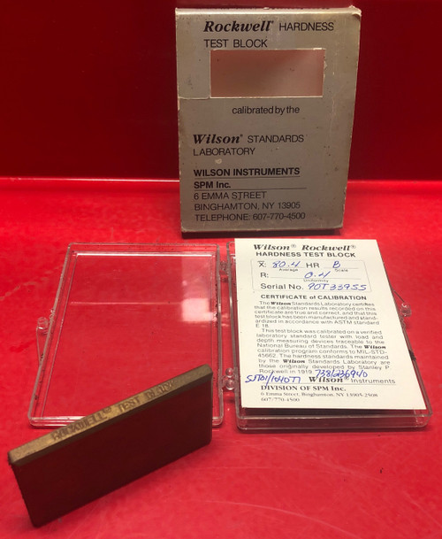 Rockwell Hardness Test Block X:80.4-HRB/R:0.4 (Used)