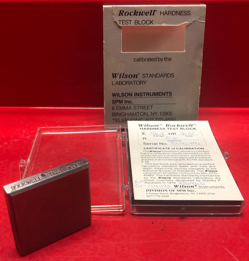 Rockwell Hardness Test Block X:46.4-HR:30N/R:0.6 (Used)