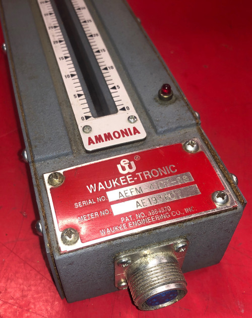 Waukee-Tronic MV-2 AEFM-4107-98 Flow Meter (Ammonia)