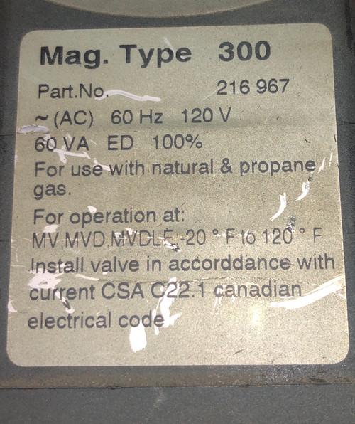 Dungs 216967 Type-300 MVD 515/6 Actuator