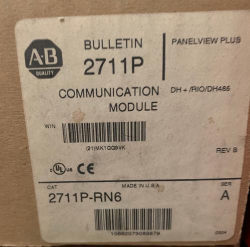Allen Bradley 2711P-RN6 DH+/DH-485/Remote I/O Communication Module
