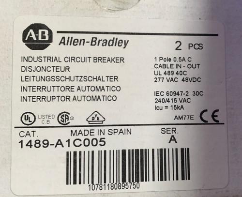 ALLEN BRADLEY 1489-A1C005 MINIATURE CIRCUIT BREAKER