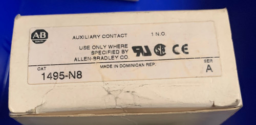 Allen Bradley 1495-N8 Auxiliary Contact 1 N.O. Series A