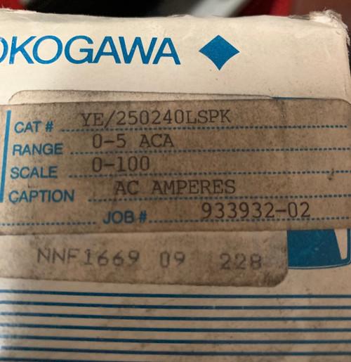 Yokogawa Panel Meter - Model 251340LSNT Scale: 0-50 AC AMPERES