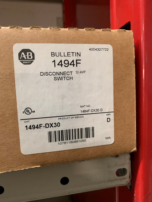 Allen Bradley - 1494F-DX30 Cable-Operated Disconnect Switch, 30A
