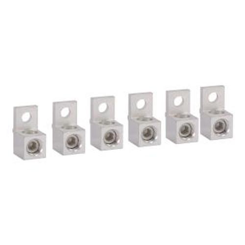Square D DZ2FH6 Contactor Lug Kit of 6 Lugs- 265AMP 330AMP IEC