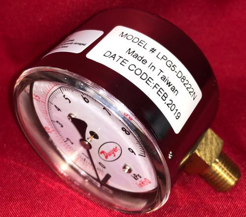 Dwyer Instruments Pressure Gauge LPG5-8222N