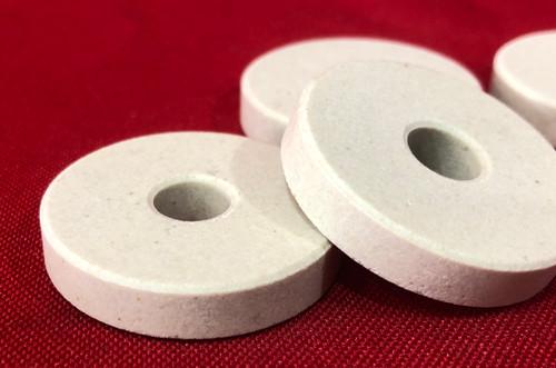 """Ceramic Insulating Washer  1.25"""" x .323"""" x .25"""" - Alumina"""
