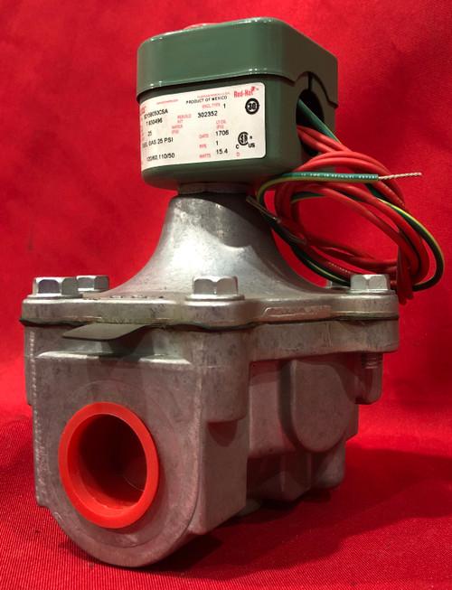 "ASCO 8215B050CSA 1"" Aluminum Air and Fuel Gas Solenoid Valve, Normally Closed"
