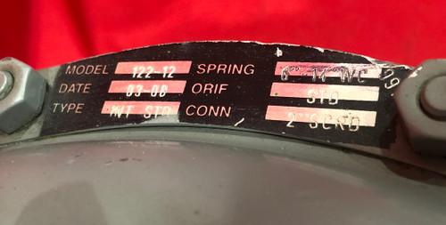 """Sensus 122-12 Gas Regulator Black Spring ( 6""""-14""""WC )"""