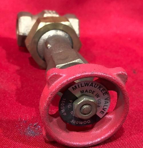Milwaukee Valve, 3/8 inch, Bronze, Solid Wedge, Gate Valve - 1176-38