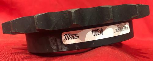 Martin 100E18 Bushing Bore Roller Chain Sprocket - QD, 100 / 1-1/4 in, 18 Teeth, E Bushing, Steel Material